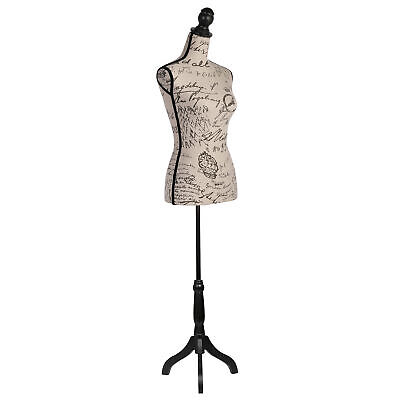 Beige Female Mannequin Torso Body Manikin Dress Form With Black Adjustable Stand