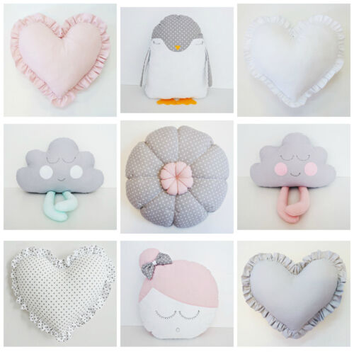 *NEW DECORATIVE CUSHION PILLOW by DOLLY ONLY – star, heart, flower, bunny, cloud