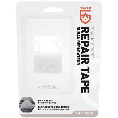 "Gear Aid Tenacious Tape Repair Tape 1.5""x 59"" Roll Clear Patch For Vinyl Nylon"