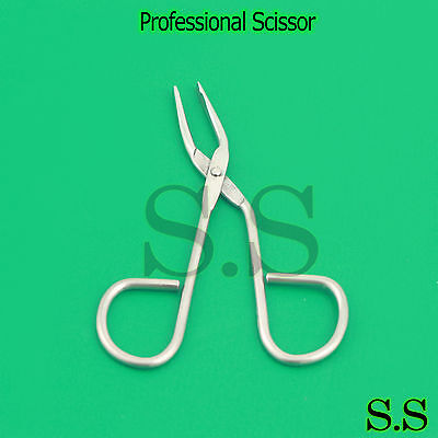 Professional Slant Tip - Scissor Tweezers Slant Tip Square Professional Salon Quality New Eyebrow