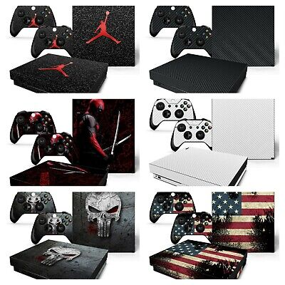XBOX ONE X Protective Vinyl Skin Decal Stickers for Console and Controllers