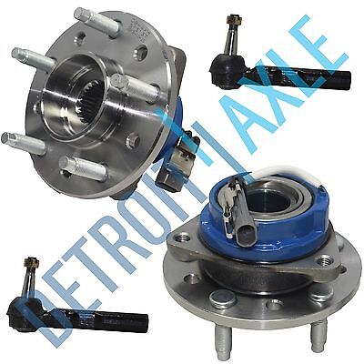 4pc Front Wheel Bearing Hub Outer Tie Rod kit For Pontiac Grand Am & Olds Alero (1999 Oldsmobile Cutlass Wheel)