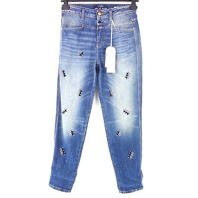 Closed Jeans Jupe by Jackie Size W25 Blue Denim High Waist Women's Np 289 New