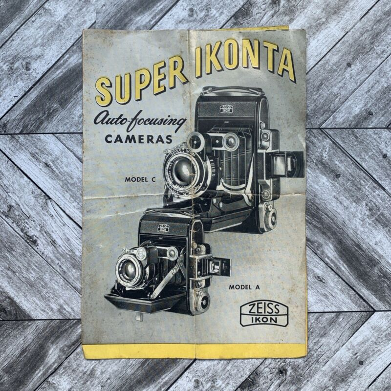 Vintage Super Ikonta Auto Focusing Camera Guide Manual Zeiss Ikon Photography