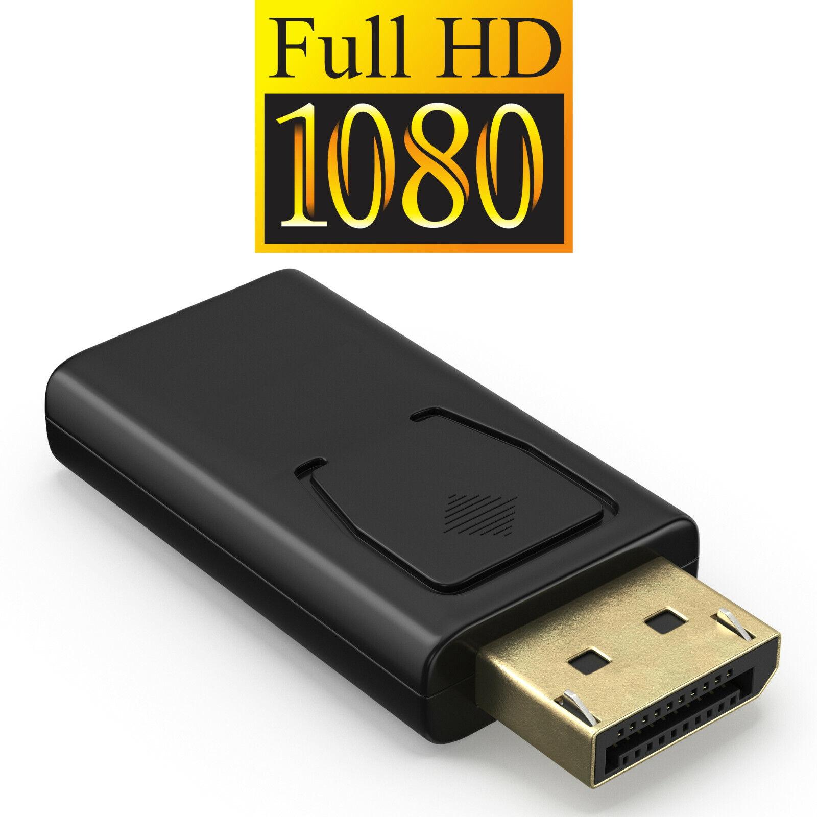 Displayport zu HDMI Adapter DP 1920×1080 mit Audioübertragung Goldkontakte 1080p