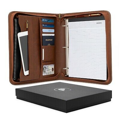 Forevermore Zippered Portfolio Padfolio With Removable 3 Ring Binder