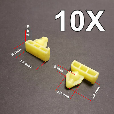 10X Wheel Arch Surround Trim Clips, Moulding Clips for Nissan Juke & X-Trail