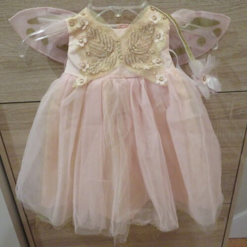Pottery Barn Kids Pink Butterfly Fairy Baby Girl Costume w. Headband 6-12 Mos.