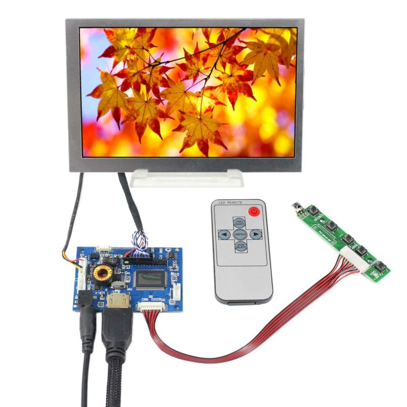 "HD MI Audio LCD Controller Board 7"" 800x480 400nit G070VW01 LCD Screen"