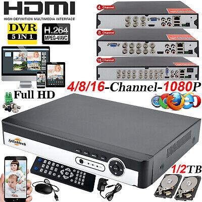 8/16 & 4CH CCTV 5 in 1 DVR 1080p Digital Video Recorder Home Security System Kit - Home Security Digital Video Recorder