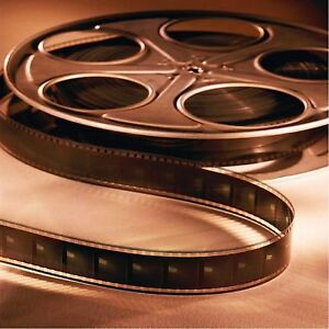 MOVIE REEL #1 SET OF 4 COASTERS RUBBER WITH FABRIC TOP