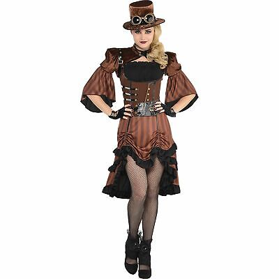 Steamy Dreamy Steampunk Halloween Costume for Women, Large, with Accessories