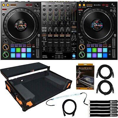 Pioneer DDJ-1000 4-Channel Club DJ Controller rekordbox DJ Pro w Orange Case