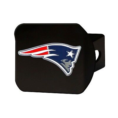 Fanmats NFL New England Patriots 3D Color on Black Metal Hitch Cover 2-4 Day Del