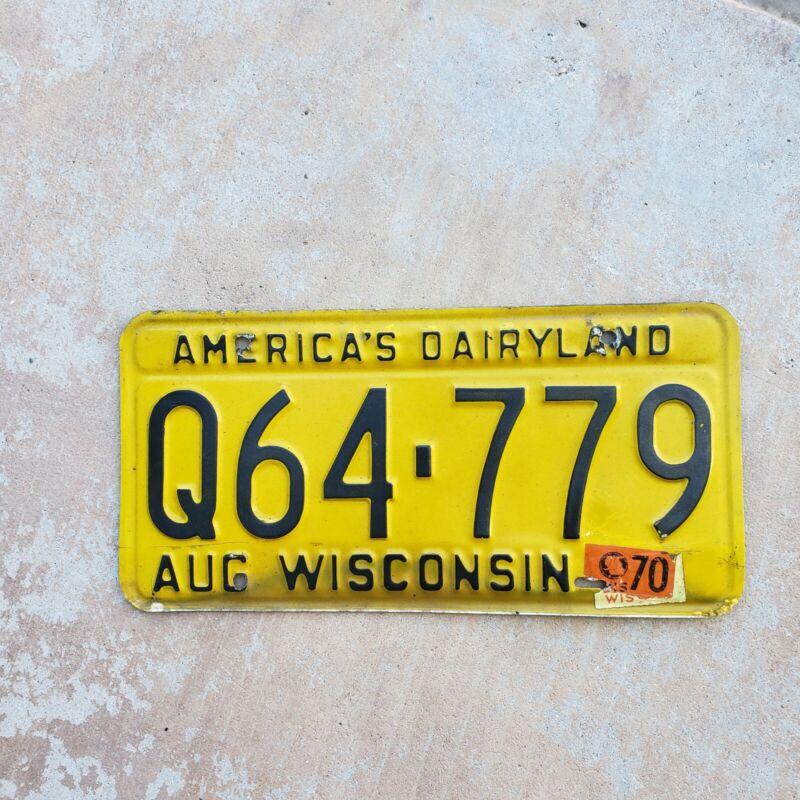 1970 Wisconsin License Plate 1970  Ford    chevelle  cuda monte carlo camaro