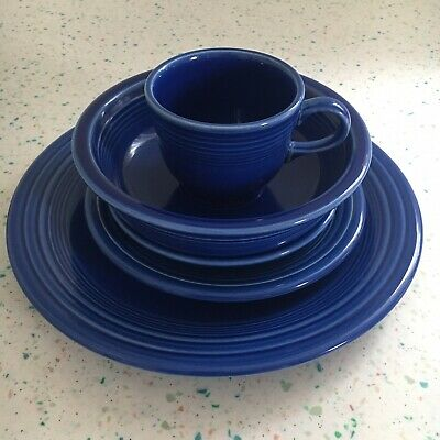 Fiestaware Sapphire 5 Piece Place Setting New