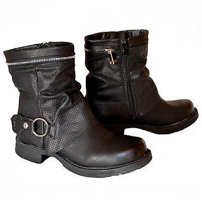 Damen Mädchen Stiefel Stiefeletten Boots Gr. 36 37 38 39 40 41 NEU