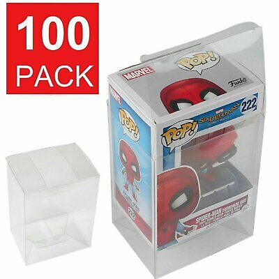 100 Collectible Funko Pop! Protector 4″ Vinyl Box Crystal Clear Acid Free Strong Bobbleheads, Nodders