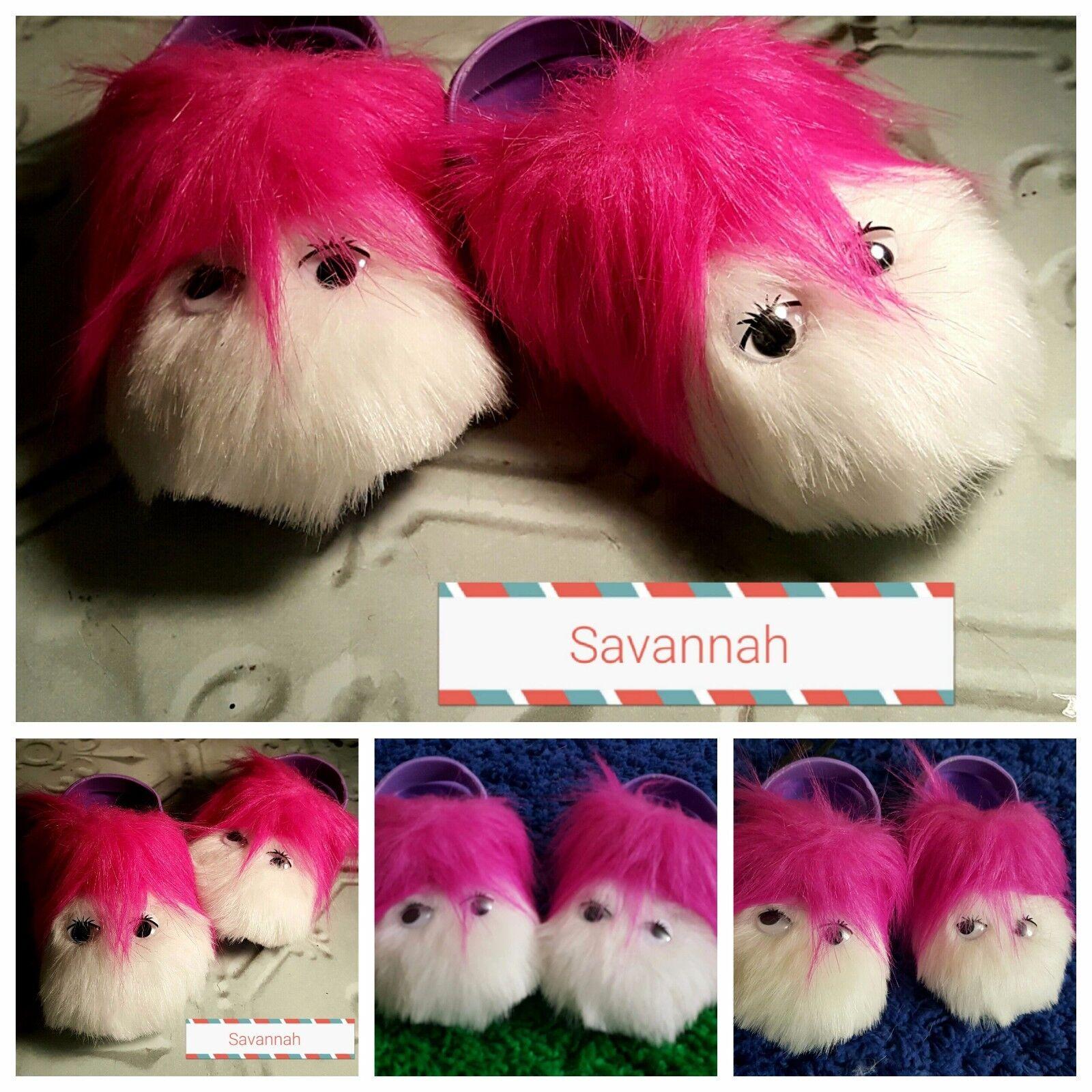 Kids Unisex Fun Furry Novelty Monster Slipper Sandal Gift Mules Pink Animal Shoe