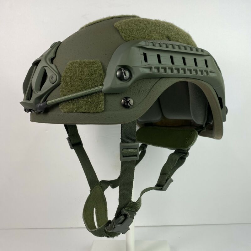OD Olive Drab High Cut NIJ IIIA SOHAH Ballistic CVC Helmet SWAT DH132B Fast Ship