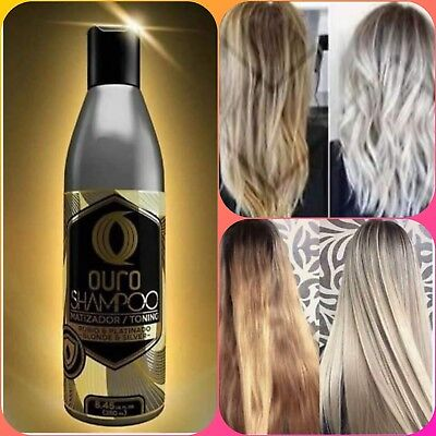OURO TONING SHAMPOO FOR BLONDE & SILVER HAIR 8.45oz MATIZADOR PARA CABELLO RUBIO