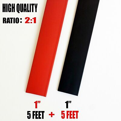 10 Feet 5 Black 5 Red1 1 Inch Polyolefin 21 Heat Shrink Tubing