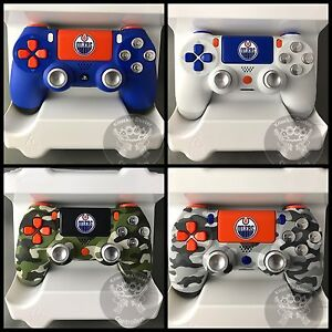 Custom PS4 (Oilers inspired) controllers