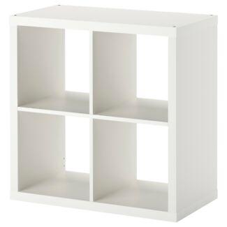 Ikea Kallax Shelving Unit High Gloss White Size 77x77cm