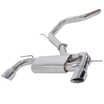 """SEAT LEON 2.0 TDI TFSI FR 05-12 STAINLESS STEEL 3"""" CAT BACK SPORT EXHAUST SYSTEM"""