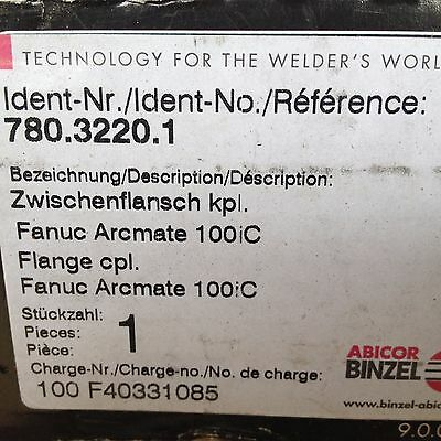Binzel Abicor 780.3220.1 Flange Adptr For Hose Clamp To Fanuc Robot Arm Mate Ic