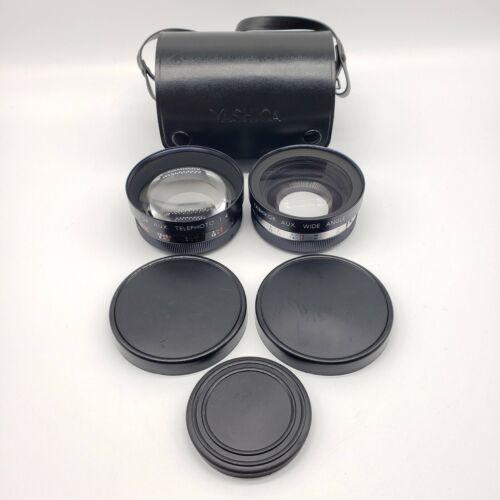 Yashica Yashikor Aux Telephoto & Wide Angle Y710 for Electro 35 1:4 w/ Case Caps