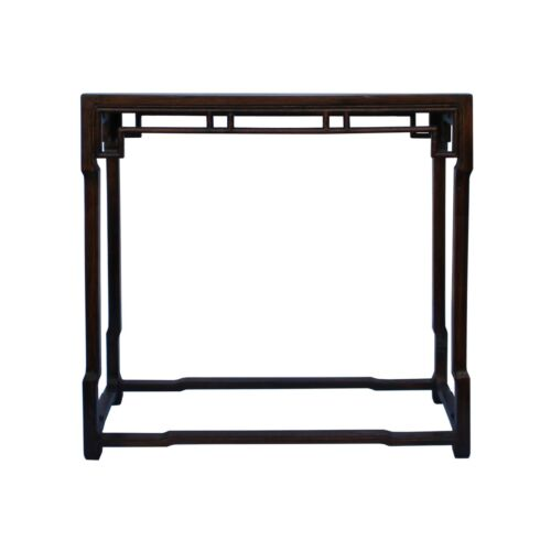 Chinese Brown Huali Rosewood Ming Style Apron Side Altar Table cs5354