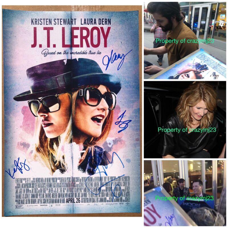 4x Signed J.T. JT LeRoy Laura Dern Jim Sturgess Justin Kelly Autograph Poster