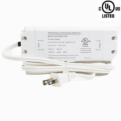 Ledupdates 24v 30w Triac Dimmable Power Supply 1.25a Ul Listed For Led Light