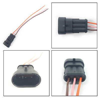 FIAT EXTENSION WIRING HARNESS LOOM 3 PIN CONNECTOR PLUG