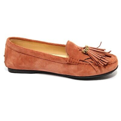 F9416 Mocassino Donna Beige Tod/'S Scarpe Suede Shoe Loafer Woman