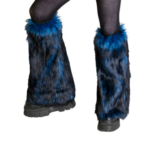 PAWSTAR Wild Wolf Fur Leg Warmers - faux fluffy fluffies furry rave [BLW]2510