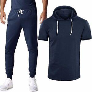 Tuta-Uomo-Maglia-con-Cappuccio-Pantaloni-T-shirt-Mezza-Manica-GIROGAMA-6389T