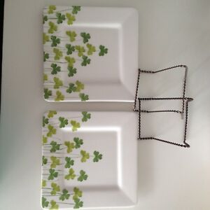 Two Shamrock Collector Plates