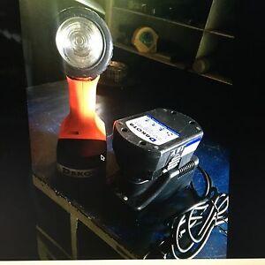 Battery charged flashlight