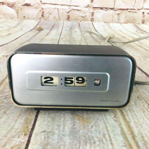 Vintage Westclox rolling numbers Clock MCM Made In Japan working Rare Electric