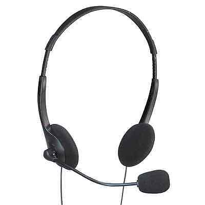 Adjustable Stereo Computer Headphones w/ Mic & Volume Control for Mac/PC