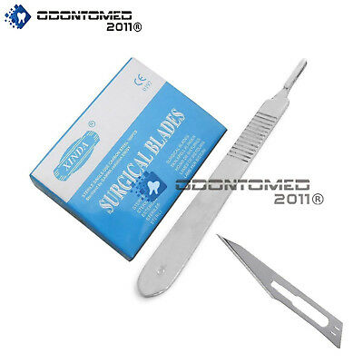 100 Surgical Steel Scalpel Blades 15 25kgy Sterility Guaranteed 1 Handle 3