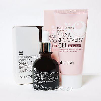 MIZON Snail Repair Intensive Ampoule 30ml + Snail Recovery GEL Cream 45ml
