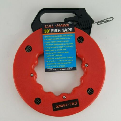 50ft FISH TAPE WIRE CABLE PULLER Electricians Reel Tape Snake Ethernet Phone