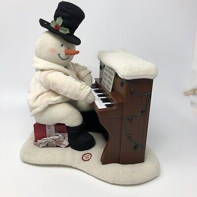 Vintage Hallmark 2005 Jingle Pals Snowman Piano Plush Playing Singing Lights up