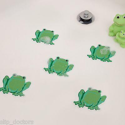 Bathtub Shower Stickers - Safety Decals Treads Non Slip FROGS Applique Anti-Skid