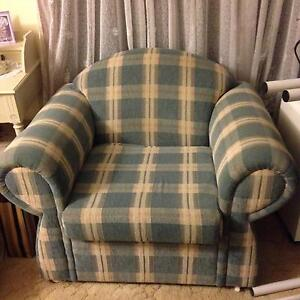 2 blue and white stripe arm chairs Wantirna South Knox Area Preview