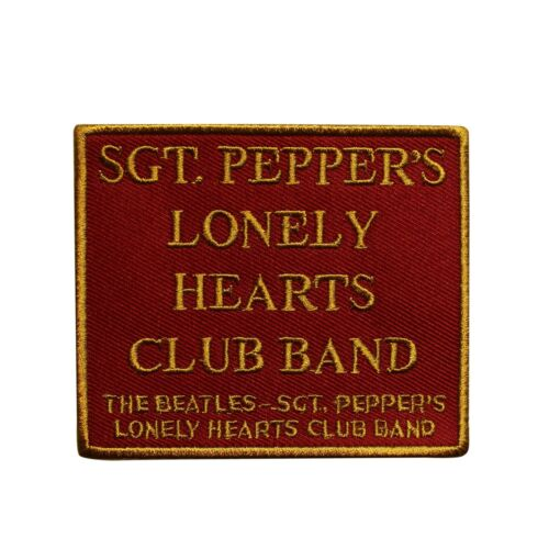 The Beatles Sgt Peppers Lonely Hearts Club Band Embroidered Sew On Patch - 075-B