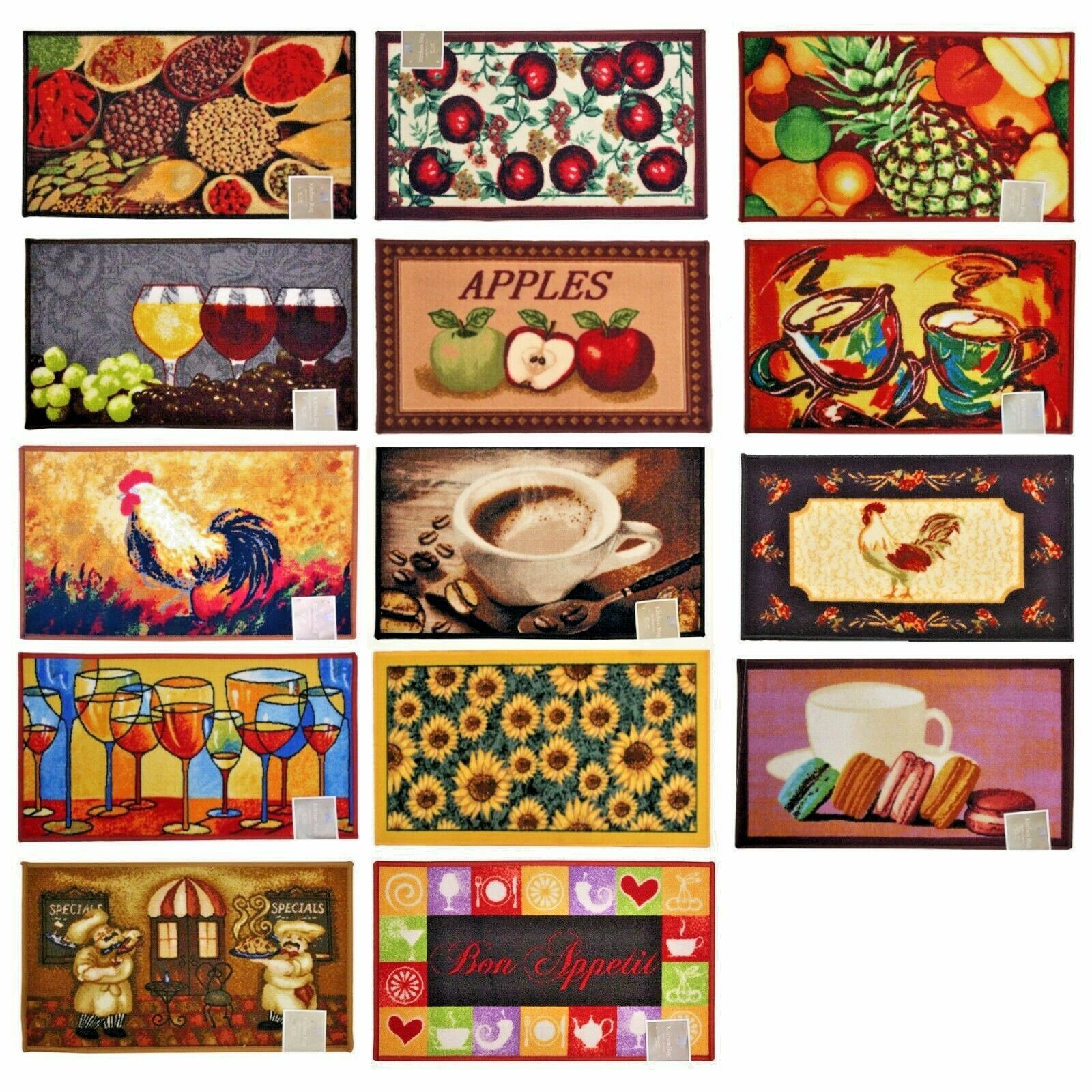 Decorative Kitchen Home Food Prints Rug Floor Mat Carpet Rec